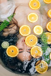 Woman-in-lemon-bath